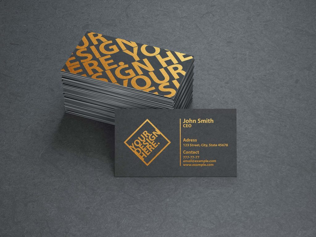 Custom Gold Printed Business Cards