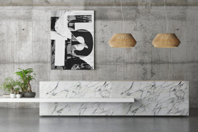 Hanging Artwork on Concrete Wall